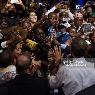 Belisa with Obama
