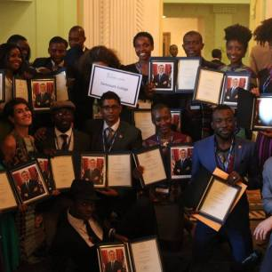 Dartmouth YALI certificate with dartmouth crowd